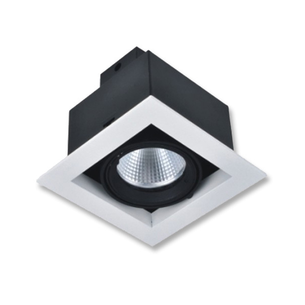 Raster-COB-Downlight-SINGLE-weiß