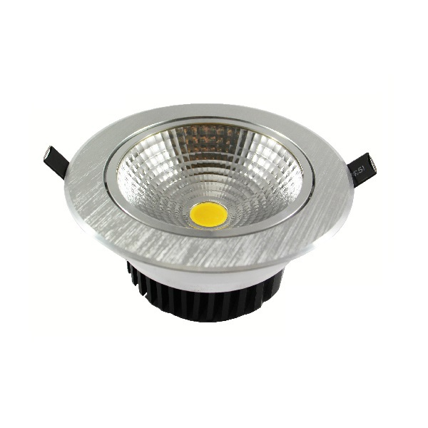 COB-Downlight, rund, alu