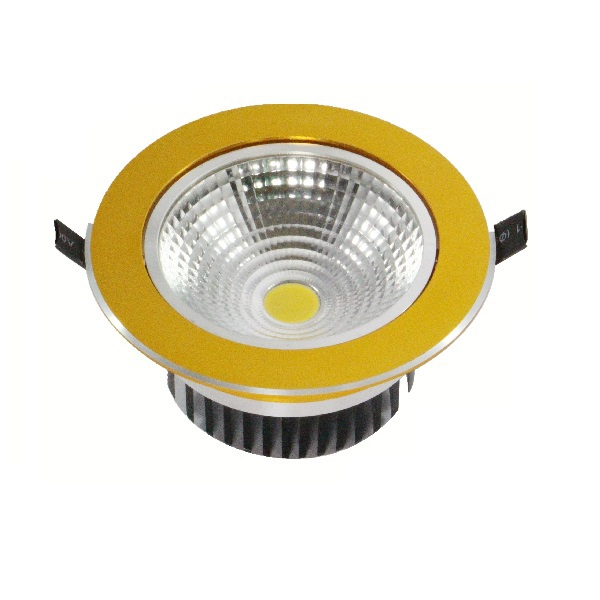 COB-Downlight, rund, gold