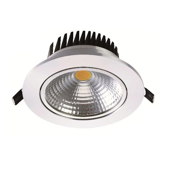 COB-Downlight, rund, weiß