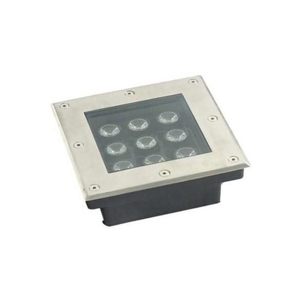 LED-Bodeneinbaustrahler quadratisch 9W